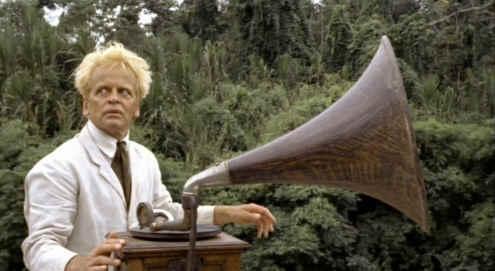 Klaus Kinski and gramophone
